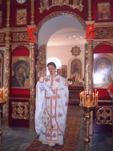 На Пасхальной литургии