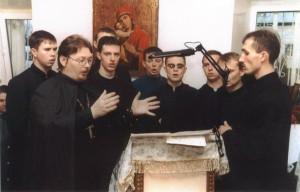 В Макаровском Иоанно- Богословском мужском монастыре на освящении Михаило-Архангельского храма 2003 год